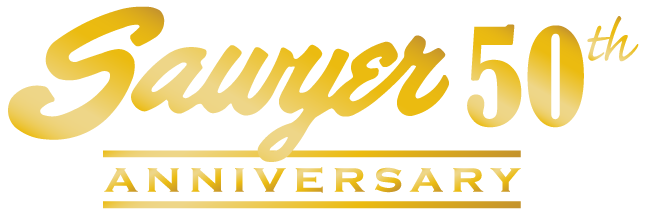 Sawyer 50th Anniversary Logo