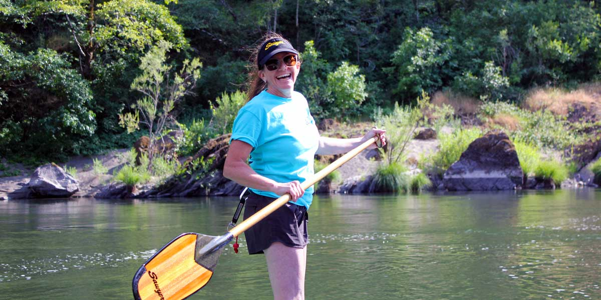 Paddling in a Sawyer Guide Shirt